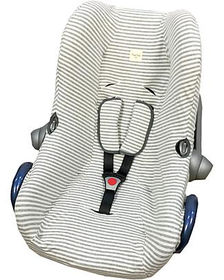 Fun*das bcn Cover for Car Seats Maxi-Cosi Cabriofix, Kodak Stripes – Elasticated cotton Car Seat Accessories