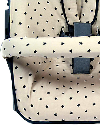 Fun*das bcn Cover for Stokke Xplory and Crusi Strollers, Hipstar - Elasticated cotton Stroller Accessories