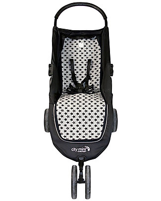 Fun*das bcn Padded Cover for Baby Jogger City Mini, Fun Black Star - Elasticated cotton Stroller Accessories