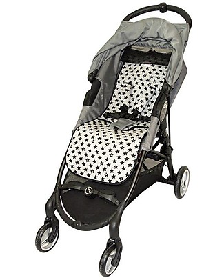 Fun*das bcn Padded Cover for BabyJogger Citi Mini Zip, Fun Black Star - Elasticated cotton  Stroller Accessories