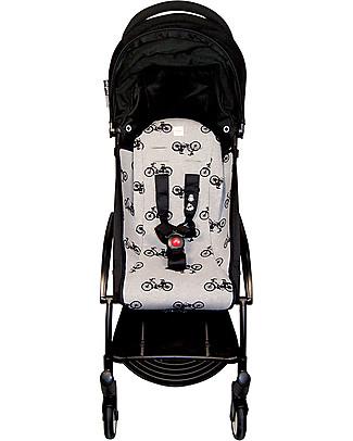 Fun*das bcn Padded Cover for Babyzen Yoyo Stroller, Black Bikes – Elasticated cotton Stroller Accessories