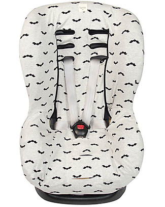 Fun*das bcn Universal Cover for Car Seats Group 1, Baby Bat – Elasticated cotton Car Seat Accessories
