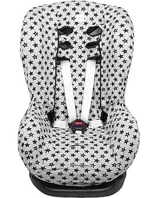 Fun*das bcn Universal Cover for Car Seats Group 1, Fun Black Star – Elasticated cotton Car Seat Accessories