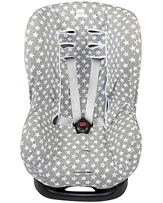 Fun*das bcn Universal Cover for Car Seats Group 1, Fun Vintage Star – Elasticated cotton Car Seat Accessories