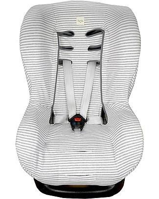 Fun*das bcn Universal Cover for Car Seats Group 1, Kodak Stripes - Elasticated cotton Car Seat Accessories