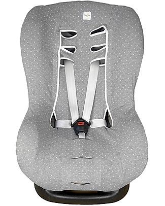 Fun*das bcn Universal Cover for Car Seats Group 1, Vintage Dot – Elasticated cotton Car Seat Accessories