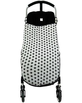 Fun*das bcn Universal Footmuff, Black Star - Elasticated cotton Stroller Accessories