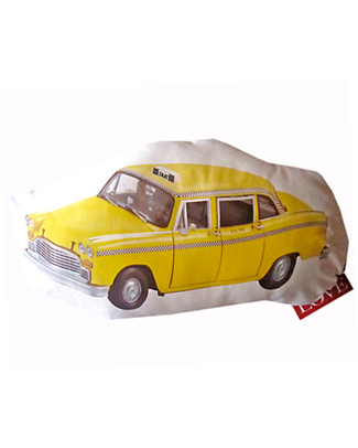 Gabriela Pardo Taxi Cushion - White Organic Cotton Cushions