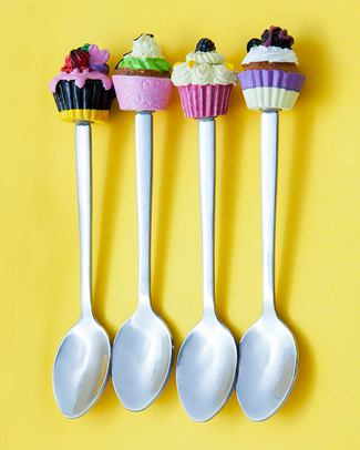 Ginger Cupcake Teaspoons - Set of 4 null