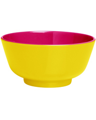 Ginger Duo Colour Dipping Bowl - Yellow & Pink null