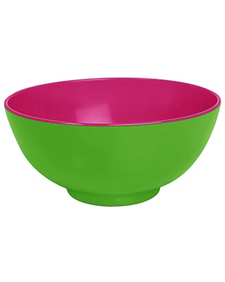 Ginger Funky Duo Colour Bowl - Green & Pink null