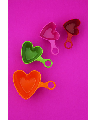 Ginger Heart-Shaped Measuring Cups - Set of 4 null