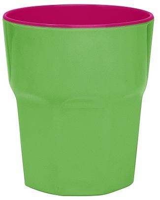 Ginger Melamine Beaker - Green & Pink null