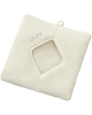 Glov Glov Comfort, Square Microfiber Make Up Remover Cloth, Ivory - No soaps needed! Face
