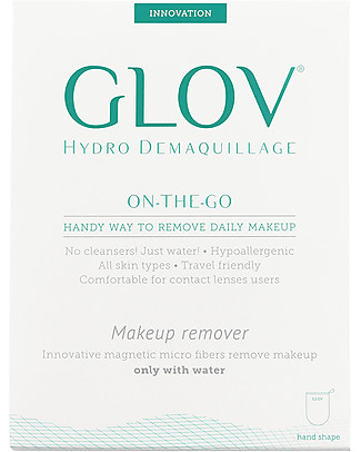 Glov Glov On The Go, Microfiber Make Up Remover Cloth, Ivory - No soaps needed! Face