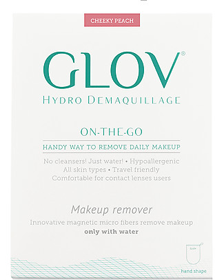 Glov Glov On The Go, Microfiber Make Up Remover Cloth, Peach - No soaps needed! Face