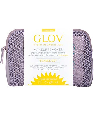 Glov Glov Travel Set, Grey - Includes pouch, Glov, Quick Treat, soap and hanger!  Face