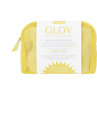 Glov Glov Travel Set, Yellow - Includes pouch, Glov, Quick Treat, soap and hanger!  Face
