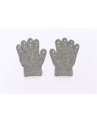 GoBabyGo Grip Gloves, Grey Melange Gloves