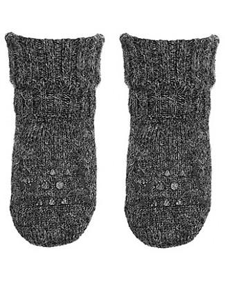 GoBabyGo Non-Slip Alpaca Wool Socks, Dark Grey - Super-Soft and High Quality! Socks