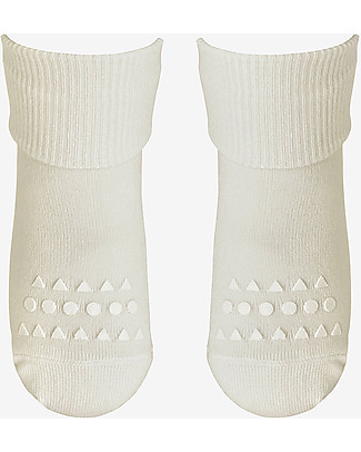 GoBabyGo Non-Slip Bamboo Socks, Off-White - Eco-friendly and gentle on the skin! Socks