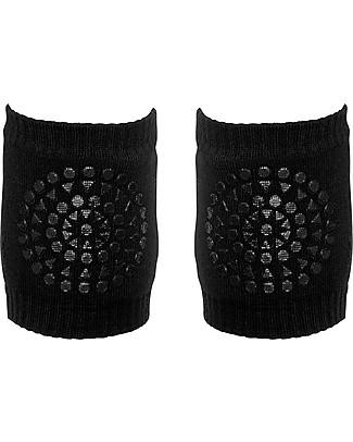 GoBabyGo Non-slip Crawling Kneepads, Black - Cotton Socks