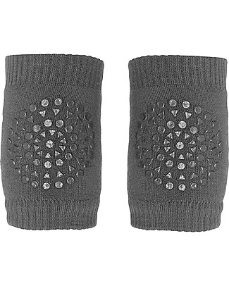 GoBabyGo Non-slip Crawling Kneepads, Dark Grey – Cotton Socks