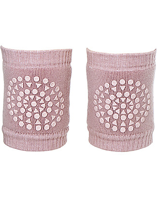 GoBabyGo Non-slip Crawling Kneepads, Dusty Rose – Cotton Socks