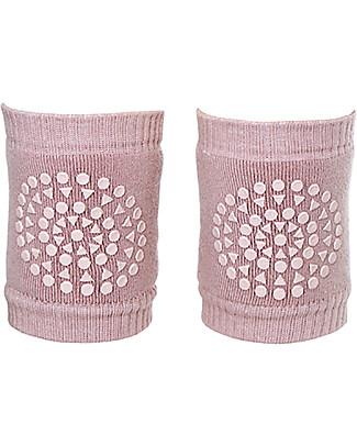 GoBabyGo Non-slip Crawling Kneepads, Dusty Rose - Cotton Socks