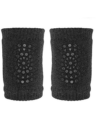 GoBabyGo Non-slip Crawling Kneepads, Graphite - Cotton Socks
