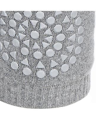 GoBabyGo Non-slip Crawling Kneepads, Grey Melange - Cotton Socks