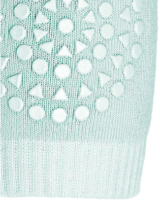 GoBabyGo Non-slip Crawling Kneepads, Mint Green - Cotton Socks
