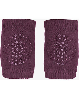 GoBabyGo Non-slip Crawling Kneepads, Plum - Cotton Socks