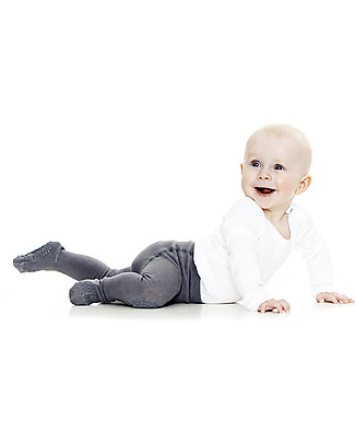 GoBabyGo Non-slip Crawling Tights, Dark Grey – Cotton Tights