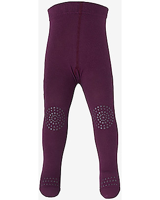 GoBabyGo Non-slip Crawling Tights, Plum – Cotton Tights