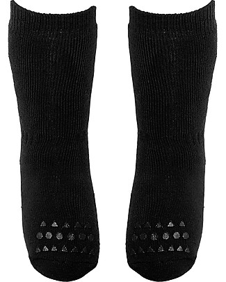 GoBabyGo Non-slip Socks, Black - Cotton Socks