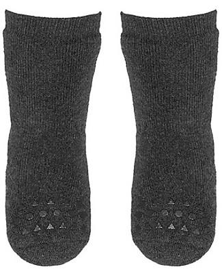 GoBabyGo Non-slip Socks, Dark Grey – Cotton Socks