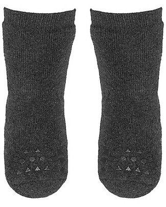 GoBabyGo Non-slip Socks, Dark Grey - Cotton Socks