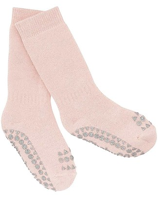 GoBabyGo Non-slip Socks, Glitter Pink – Cotton Socks