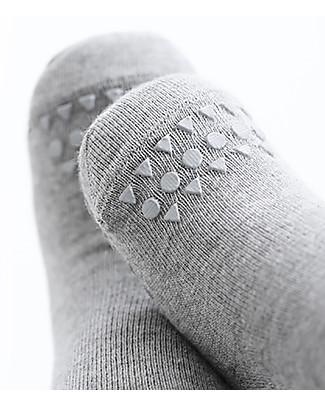 GoBabyGo Non-slip Socks, Grey Melange - Cotton Socks