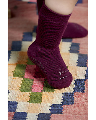 GoBabyGo Non-slip Socks, Plum – Cotton Socks