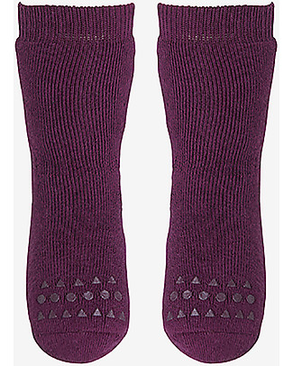 GoBabyGo Non-slip Socks, Plum - Cotton Socks