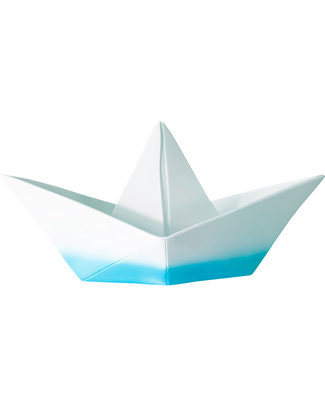 Goodnight Light Paper Boat Lamp - Cyan Dip Dye - Low Energy Consumption! Bedside Lamps
