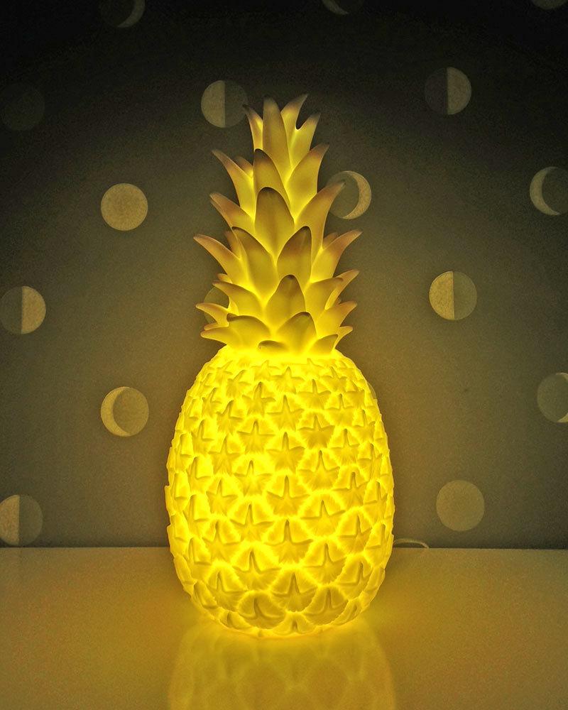 Goodnight Light Pina Colada Lamp   Pastel Yellow   Low Energy Consumption!  Nightlights