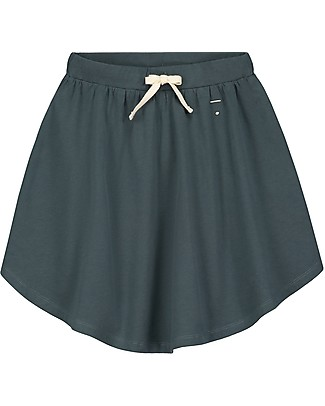Gray Label 3/4 Skirt with Curved Bottom, Blue Grey - 100% organic cotton - Trendy and fresh! Skirts