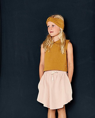 Gray Label 3/4 Skirt with Curved Bottom, Vintage Pink - 100% organic cotton - Trendy and fresh! Skirts