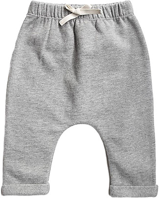 Gray Label Baby Pant, Grey Melange - 100% softest organic cotton fleece Trousers