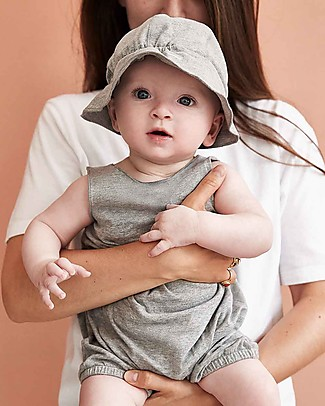 Gray Label Baby Sleeveless Onesie, Grey Melange - Organic cotton Short Rompers