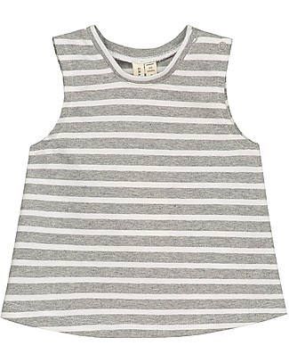 Gray Label Baby Striped Tank Top, Grey Melange - 100% organic cotton jersey T-Shirts And Vests