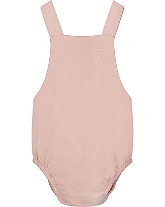 Gray Label Baby Summer Onepiece, Vintage Pink - 100% organic cotton jersey Dungarees